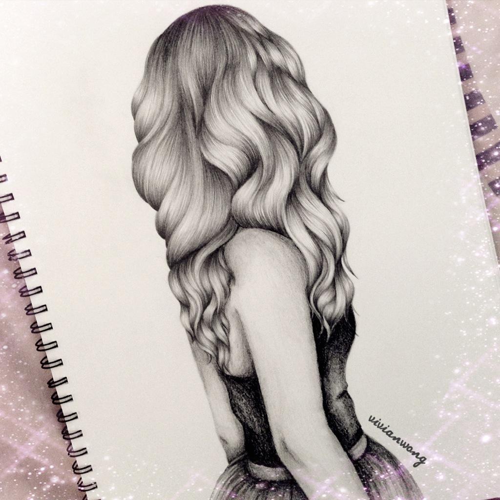 1024x1024 Tumblr Drawings Girl Hair Pencil Drawing Of A Girl Tumblr How