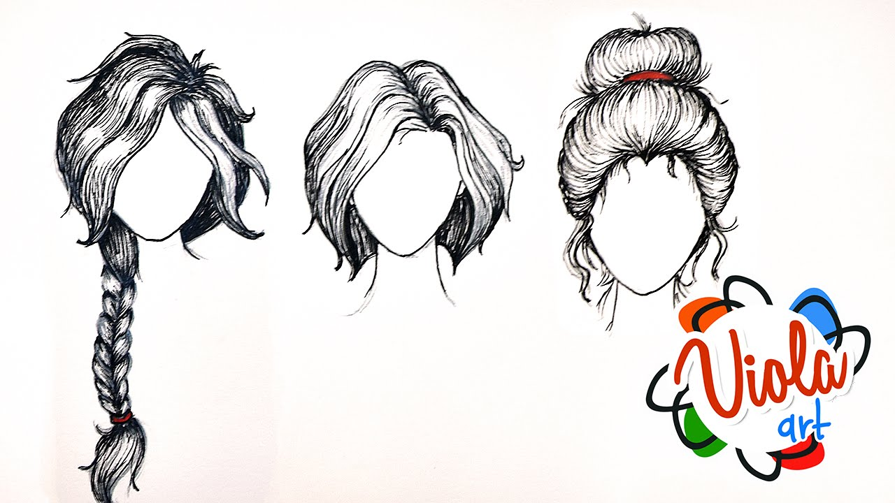 Hair Style Drawing At Getdrawings Free Download