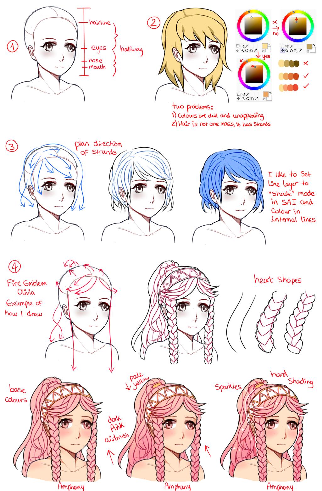 Line Art Drawing Tutorial : Hair tutorial drawing at getdrawings free for