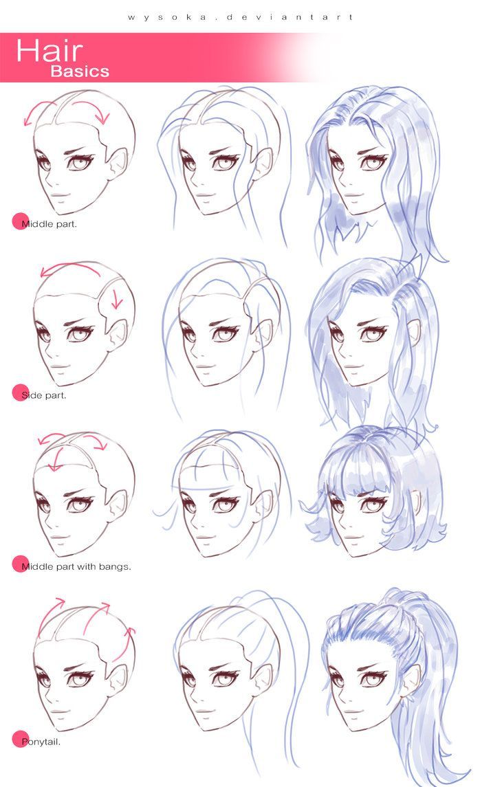 698x1145 How To Draw Hair 2 And Drawing Stuff