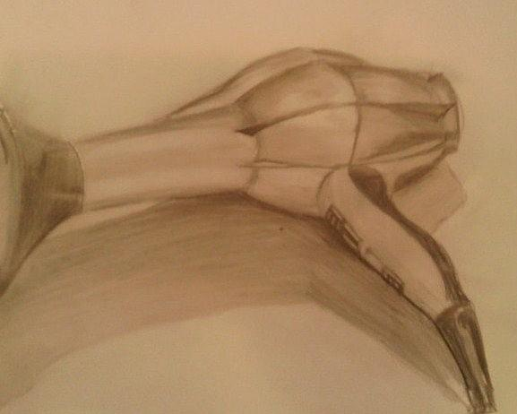 577x462 Hairdryer. Drawing By Casey Bingham