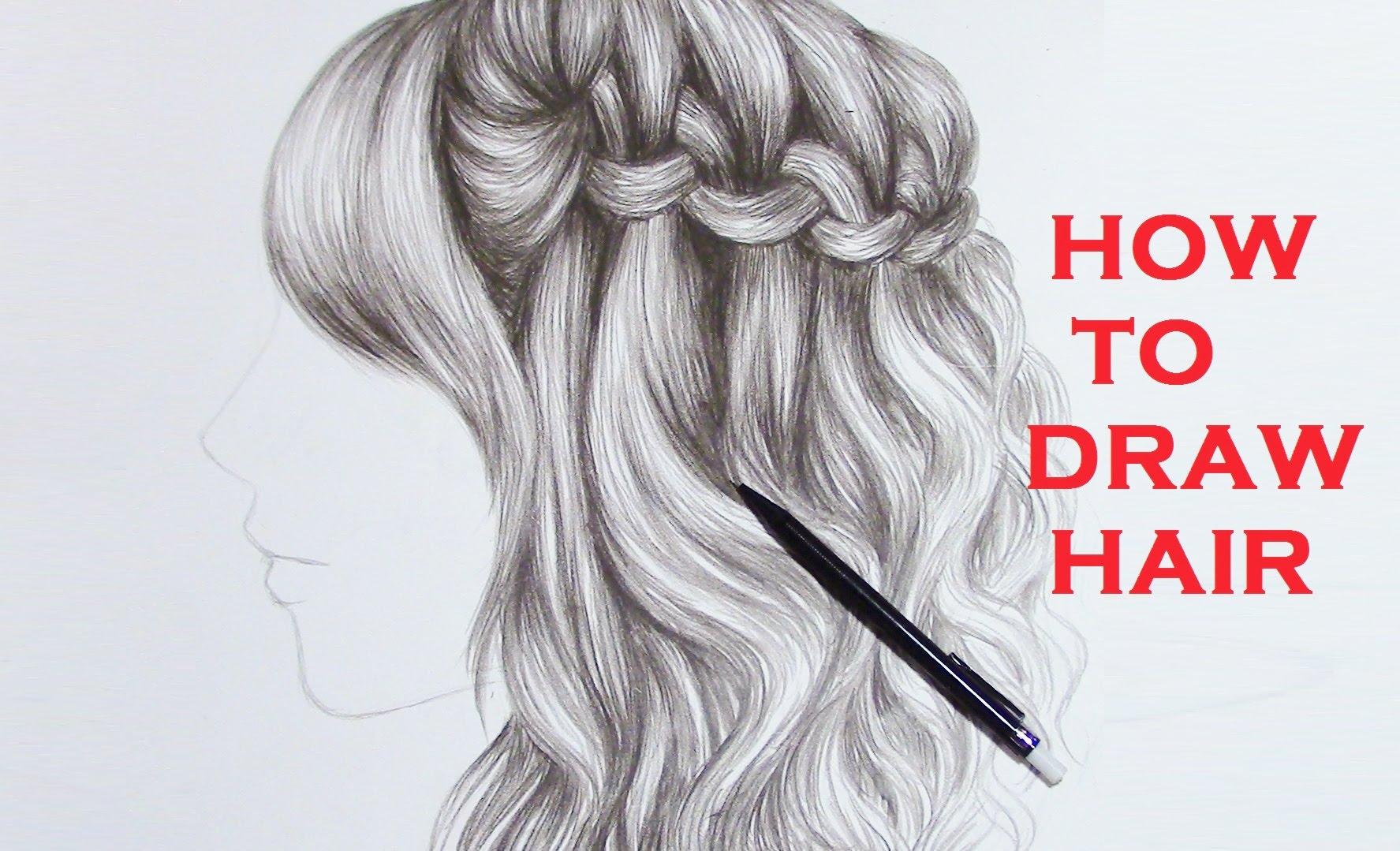 1775x1079 Curly Hair Drawings Drawing Braid Curly Hair (Realistic)