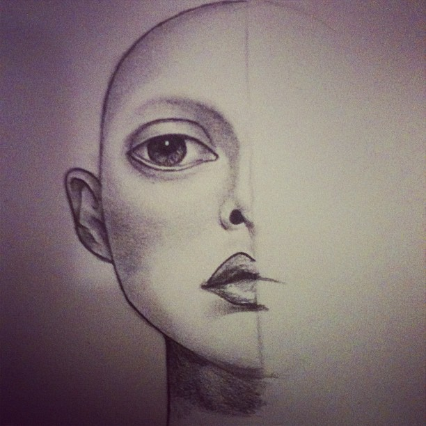 612x612 Quick Face Sketch By Caitlinisthename