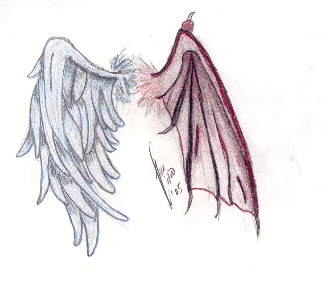 1058x926 Half Demon, Half Angel. By Demonfaerieaeryka