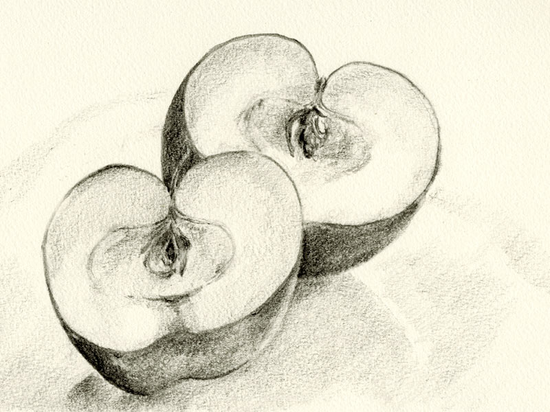 Apple Picking Coloring Pages : Half apple drawing at getdrawings free for personal use half