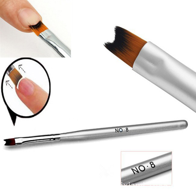 640x640 Hot Selling 1 Pc French Manicure Nail Brush Half Moon Drawing Pen
