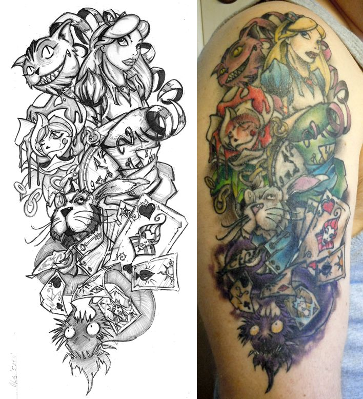 708x778 Alice Half Sleeve Finished By Cogitat On Junk