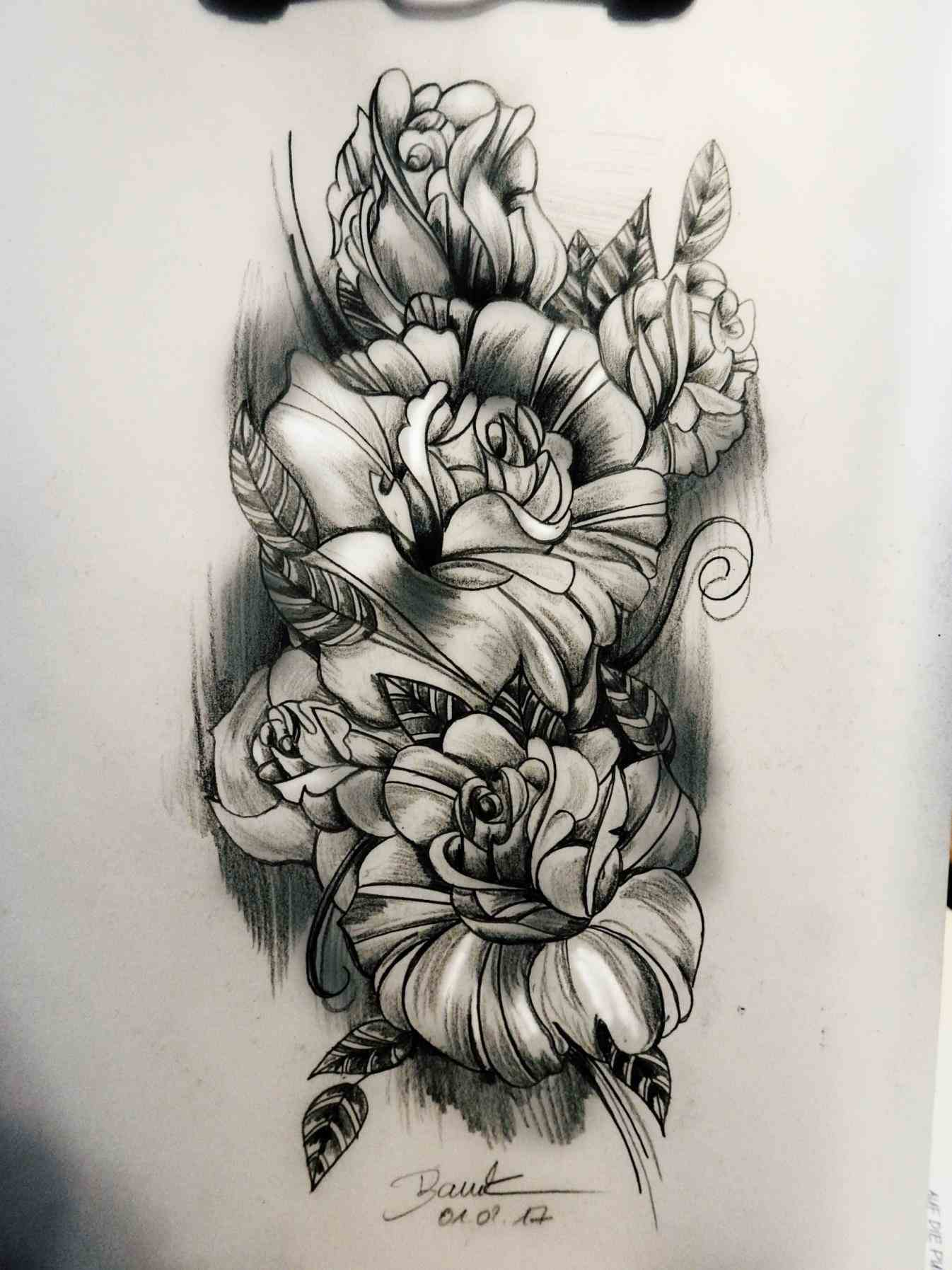 Half Sleeve Tattoo Drawing at GetDrawings.com | Free for personal ...