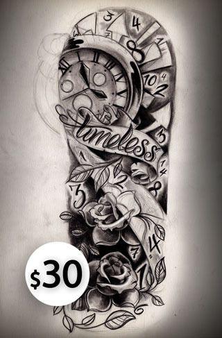 320x487 Half Sleeve Tattoos For Women Timeless Half Sleeve Sketch