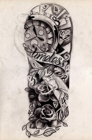 300x457 Timeless Half Sleeve Tattoo Designs Tattoo Love