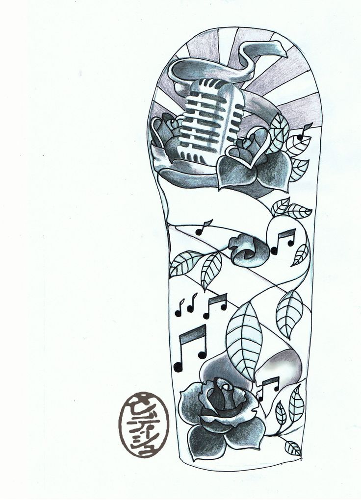 Mens Tattoo Sleeve Drawings: Half Sleeve Tattoo Drawing Designs At GetDrawings