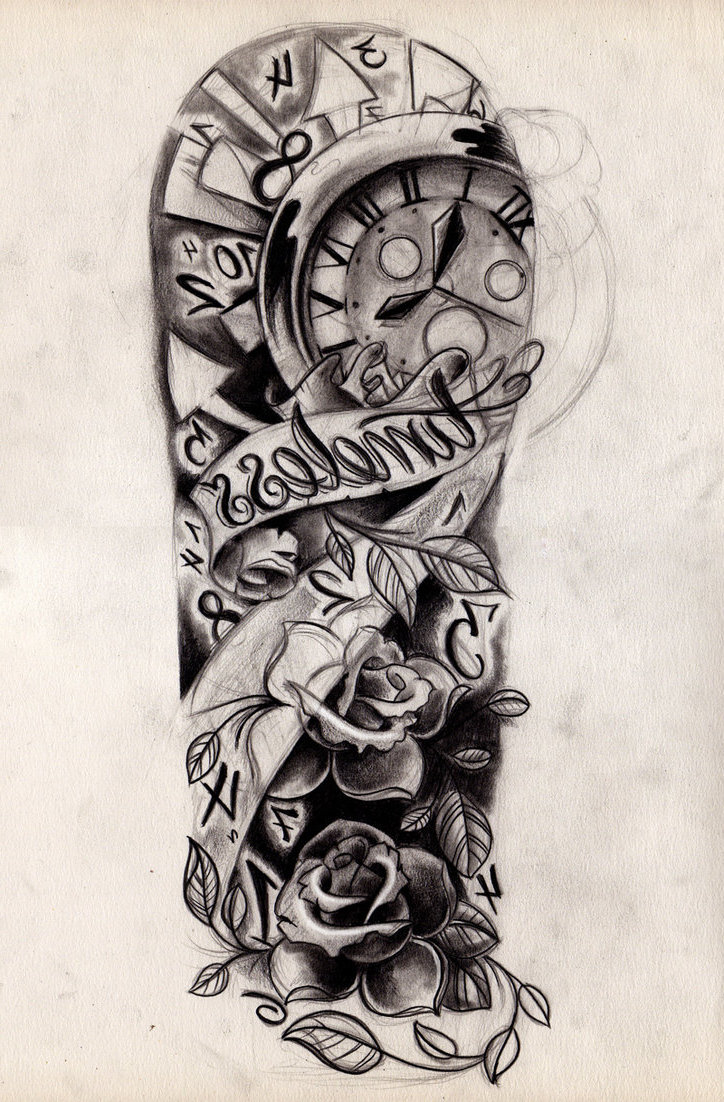 Half sleeve tattoo drawing designs at for Tattoo sleeve ideas girl