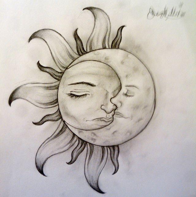 Half Sun Half Moon Drawing At Getdrawings Free For Personal