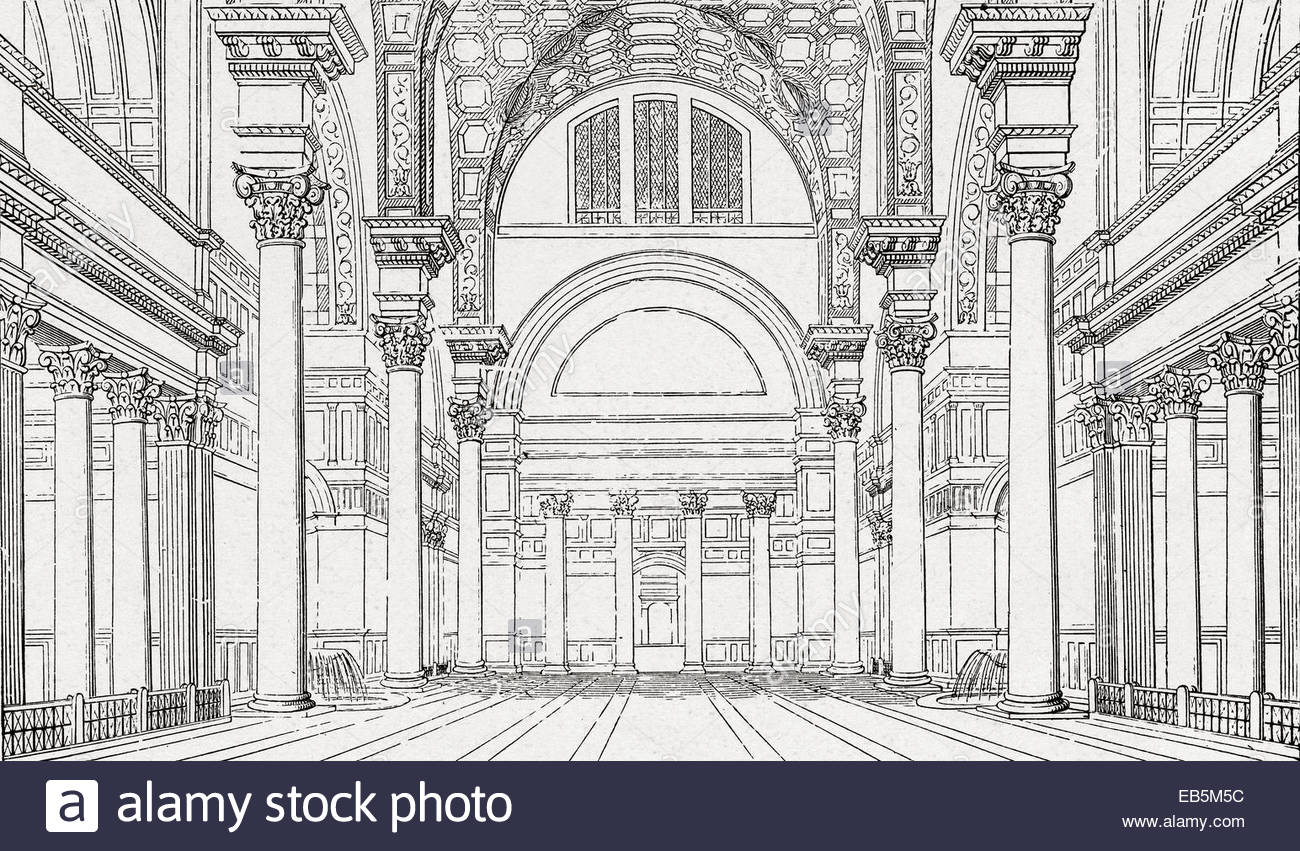 1300x851 A 19th Century Reconstructive Drawing Main Hall