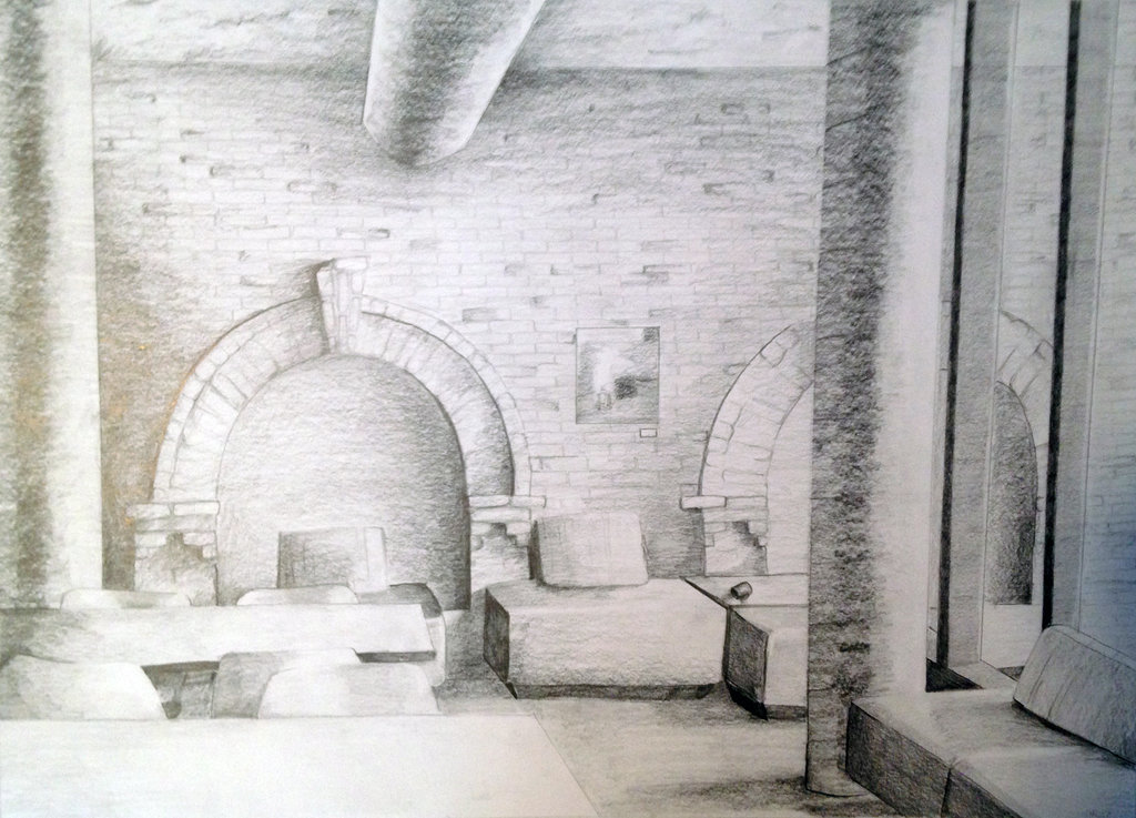 1024x737 Mcneal Hall Drawing By Nmehrlich
