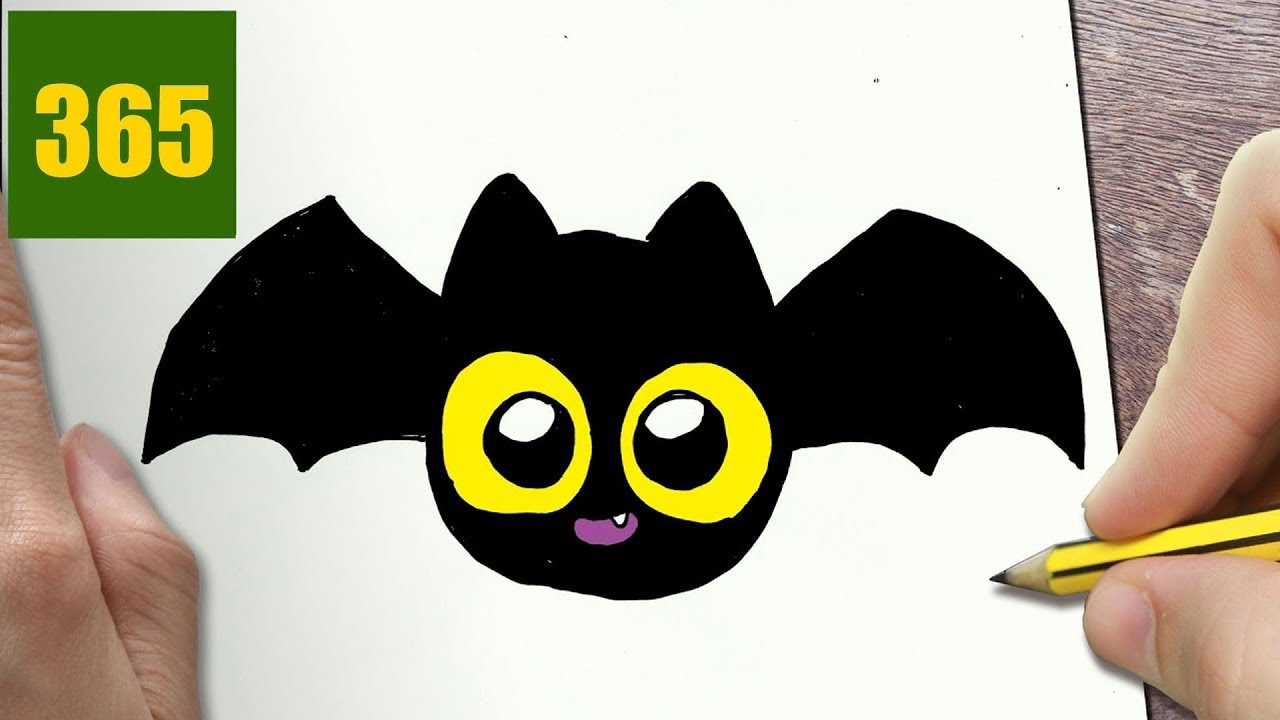 1280x720 How To Draw A Halloween Bat Cute, Easy Step By Step Drawing