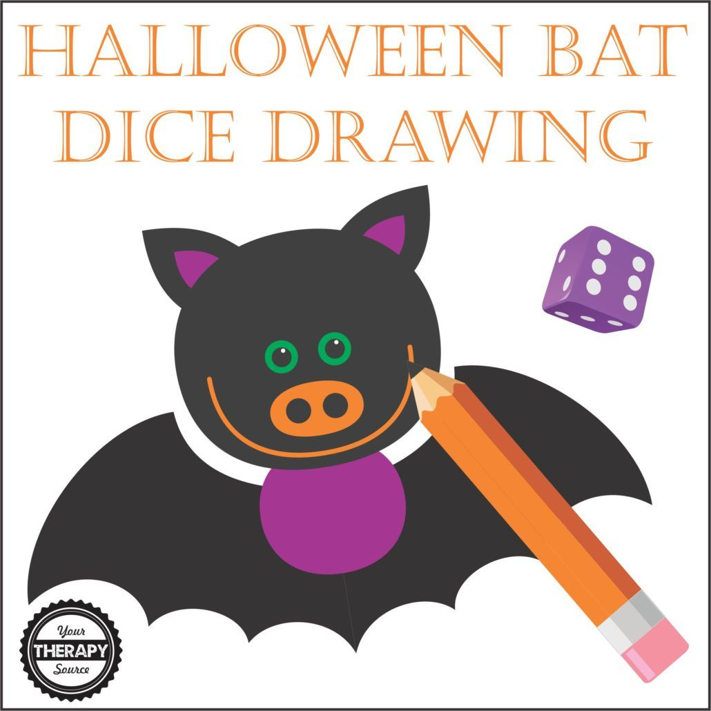 1030x1030 Halloween Bat Dice Drawing Blogpost For Today Bats