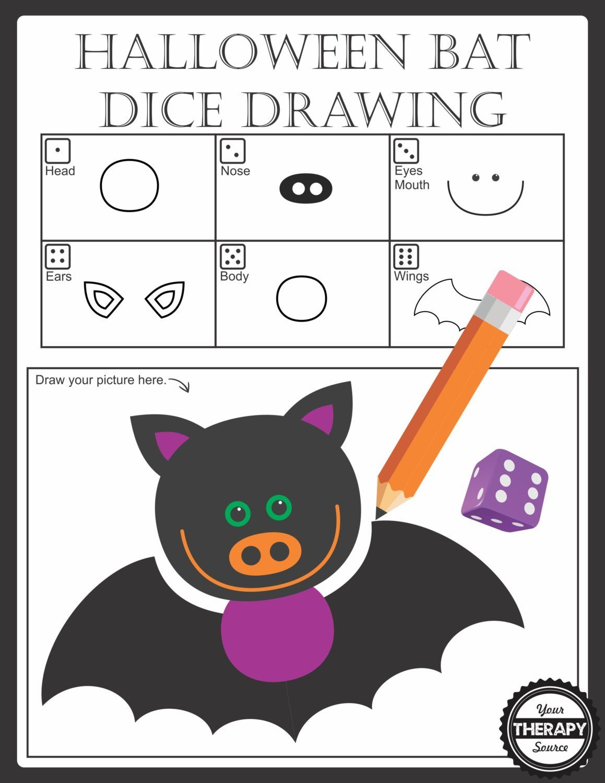 1159x1500 Halloween Bat Dice Drawing Pediatricschool Based Otpt Blog