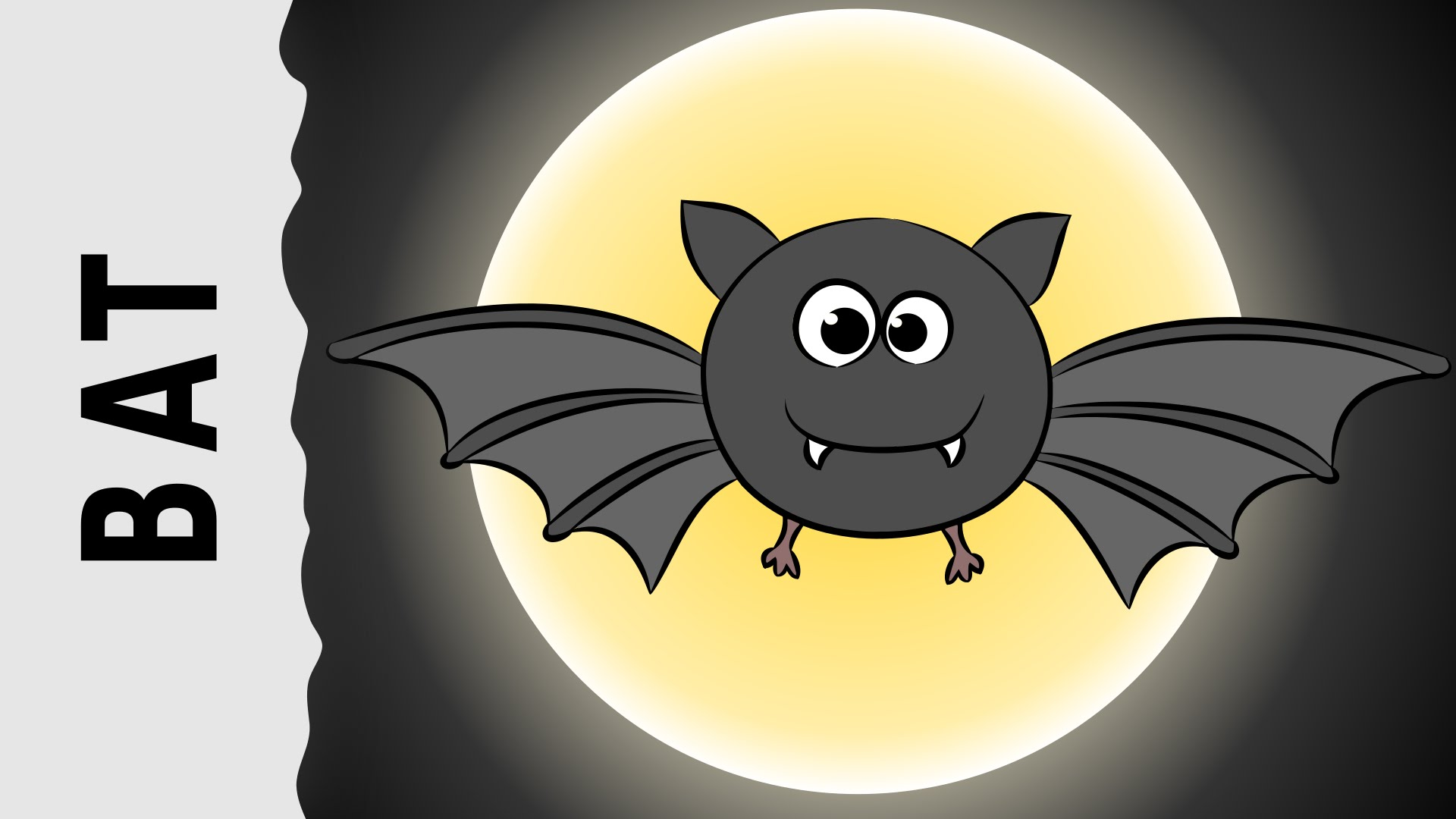 1920x1080 How To Draw A Bat Step By Step