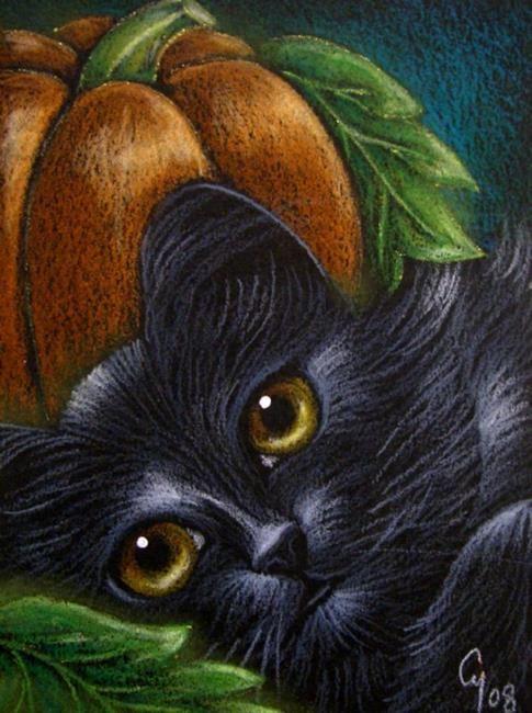 485x650 Black Cat Amp Pumpkin Face Halloween Night Cyra R. Cancel