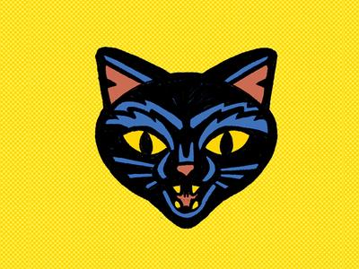 400x300 Halloween Cat By Hans Bennewitz