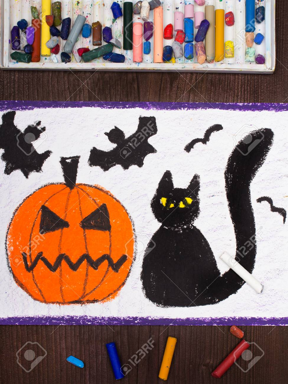 Halloween Cat Drawing at GetDrawings.com | Free for personal use ...