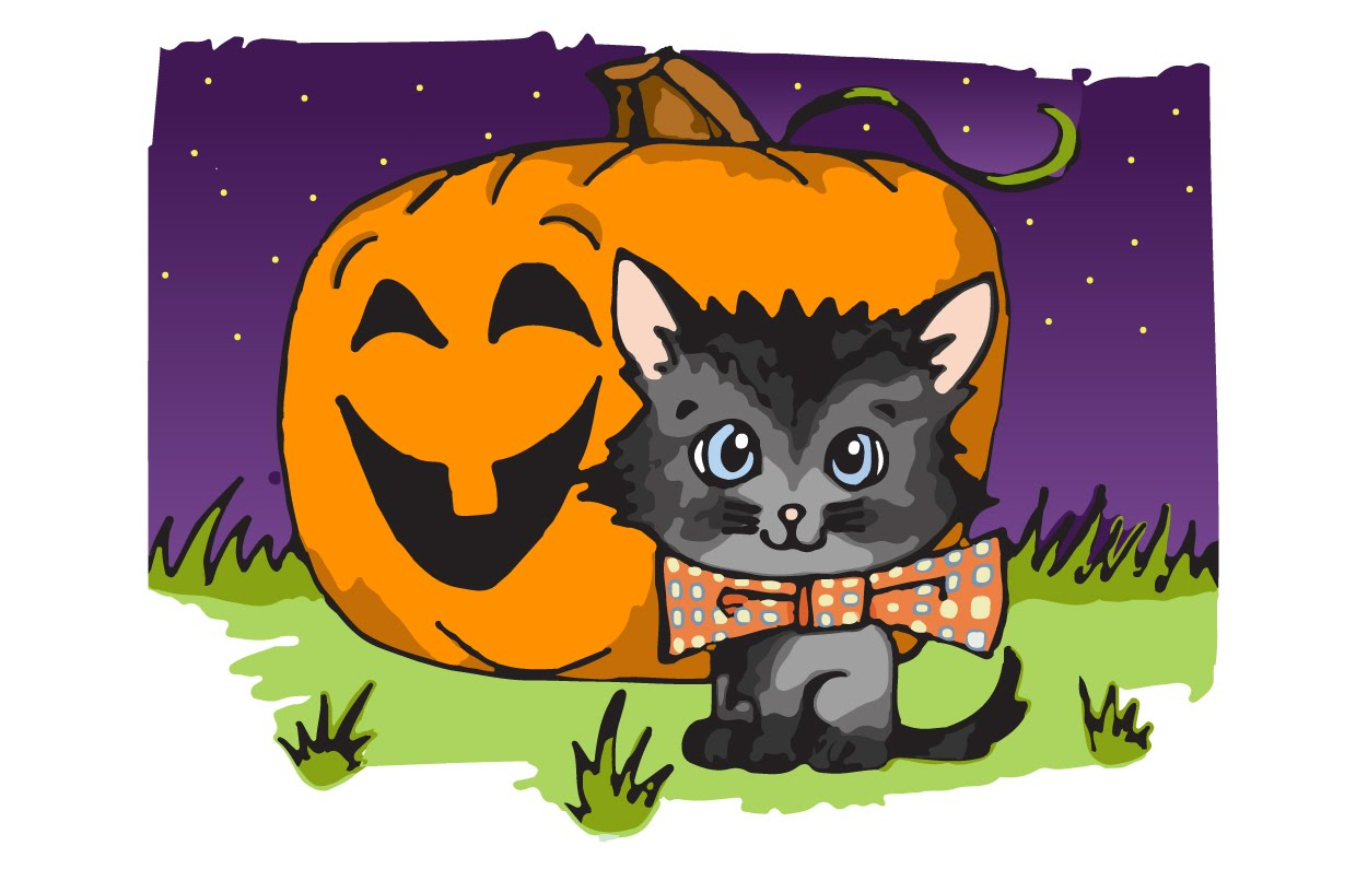 1240x806 How To Draw A Halloween Cat