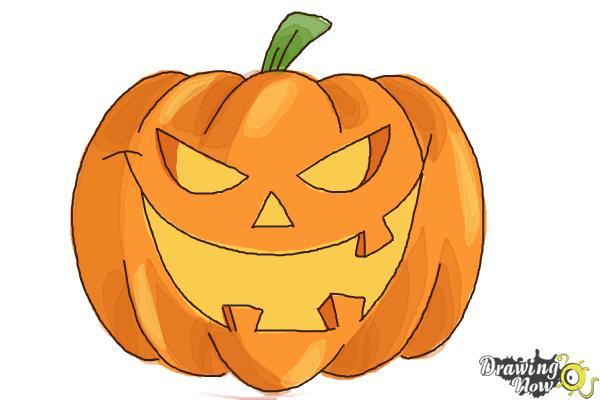 600x400 How To Draw A Halloween Pumpkin