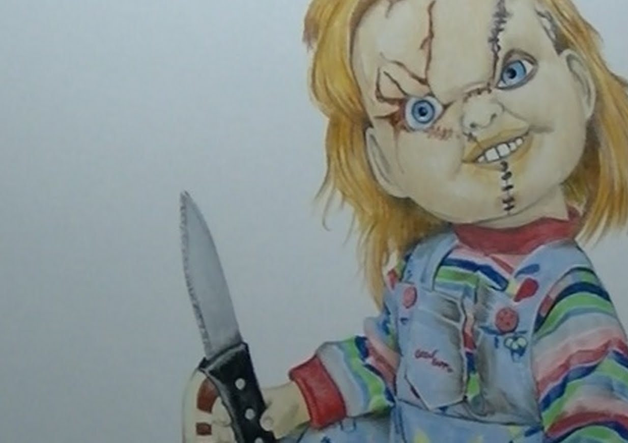 1234x870 Draw Halloween Characters Chucky(Child's Play)