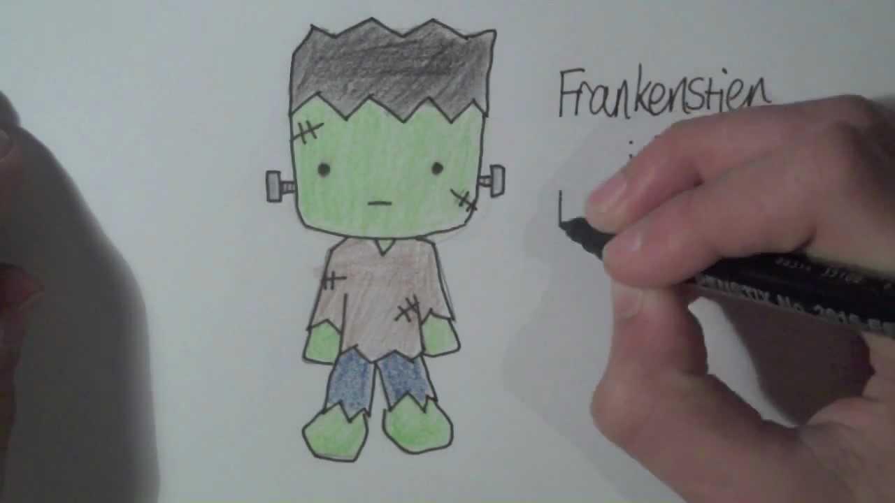 1280x720 How To Draw Halloween Characters Frankenstien ^^