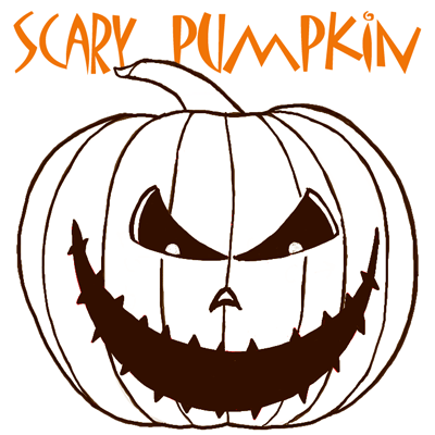 400x400 How To Draw A Scary Pumpkin Jack O Lantern In Easy Steps