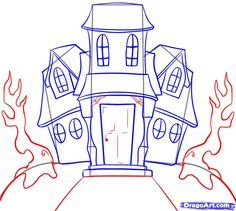 236x211 How To Draw A Haunted House For Kids Step 5 Halloween Fun