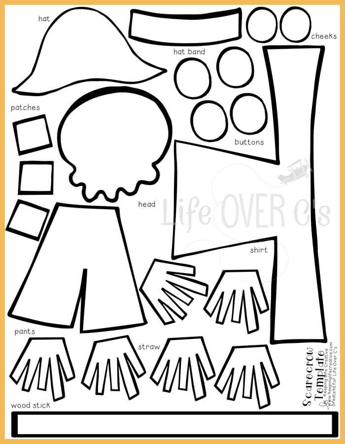 700x900 Cut And Paste Scarecrow Craft For Fall Scarecrows, Template And Free