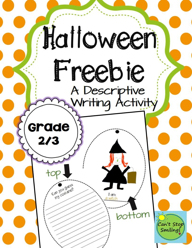 816x1056 Halloween Freebie Just Print And Go!! A Fun Descriptive Writing