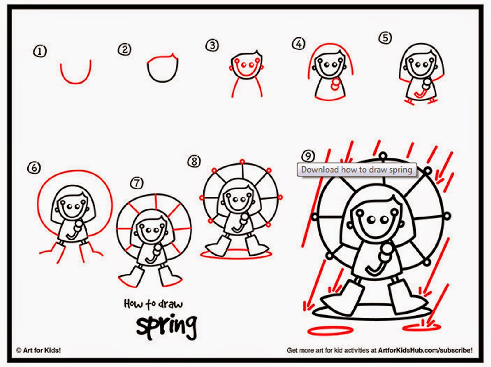 1600x1195 How To Draw Spring