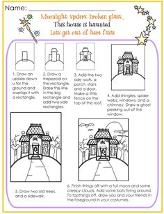 236x307 How To Draw A Haunted House Scary Drawing Halloween Scary Fast