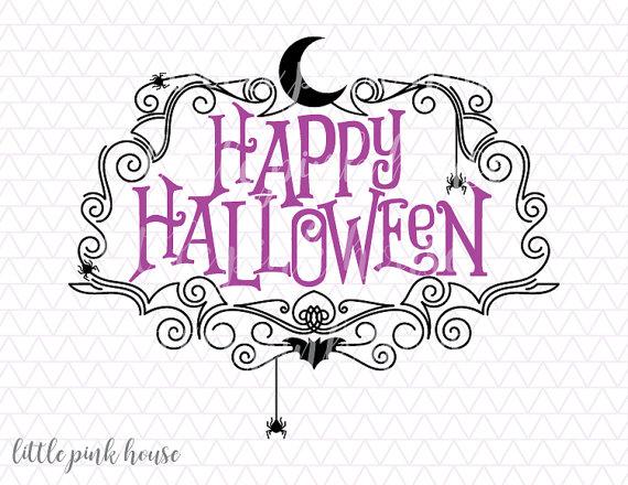 570x440 Happy Halloween Banner Svg, Halloween Svg, Fall Svg, Svg Files