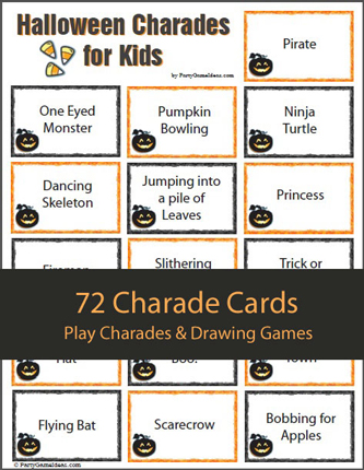 graphic regarding Halloween Charades Printable titled Charades Designs
