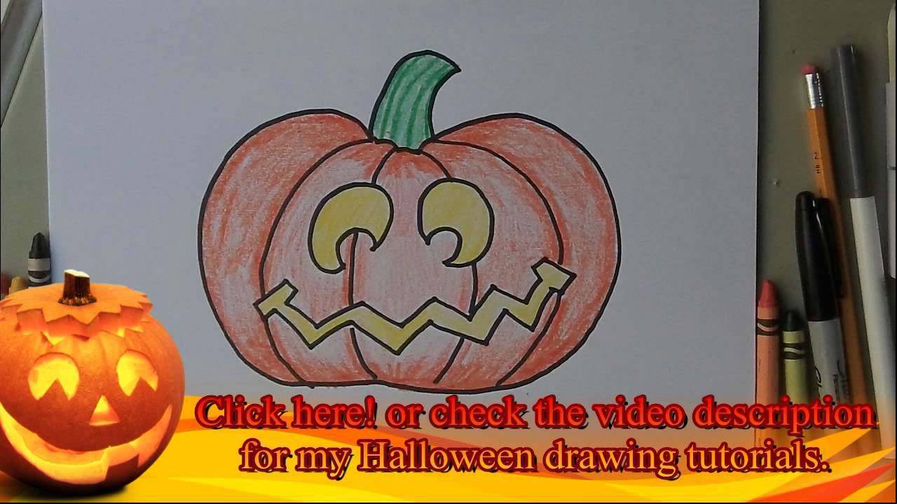 1280x720 Drawing Halloween Drawing Ideas