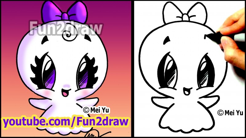 800x450 Easy Things To Draw How To Draw Halloween Cartoons Super Cute