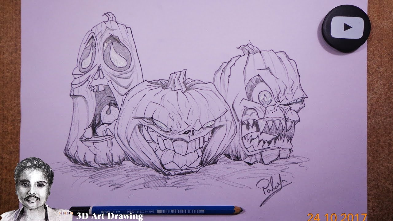1280x720 How To Draw Halloween Drawing Ideas