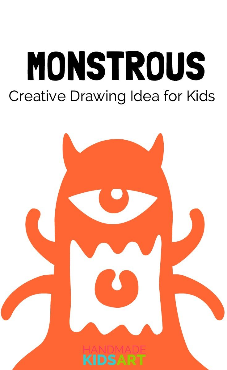 735x1200 A Monstrous Creative Drawing Challenge For Kids Creative Drawing