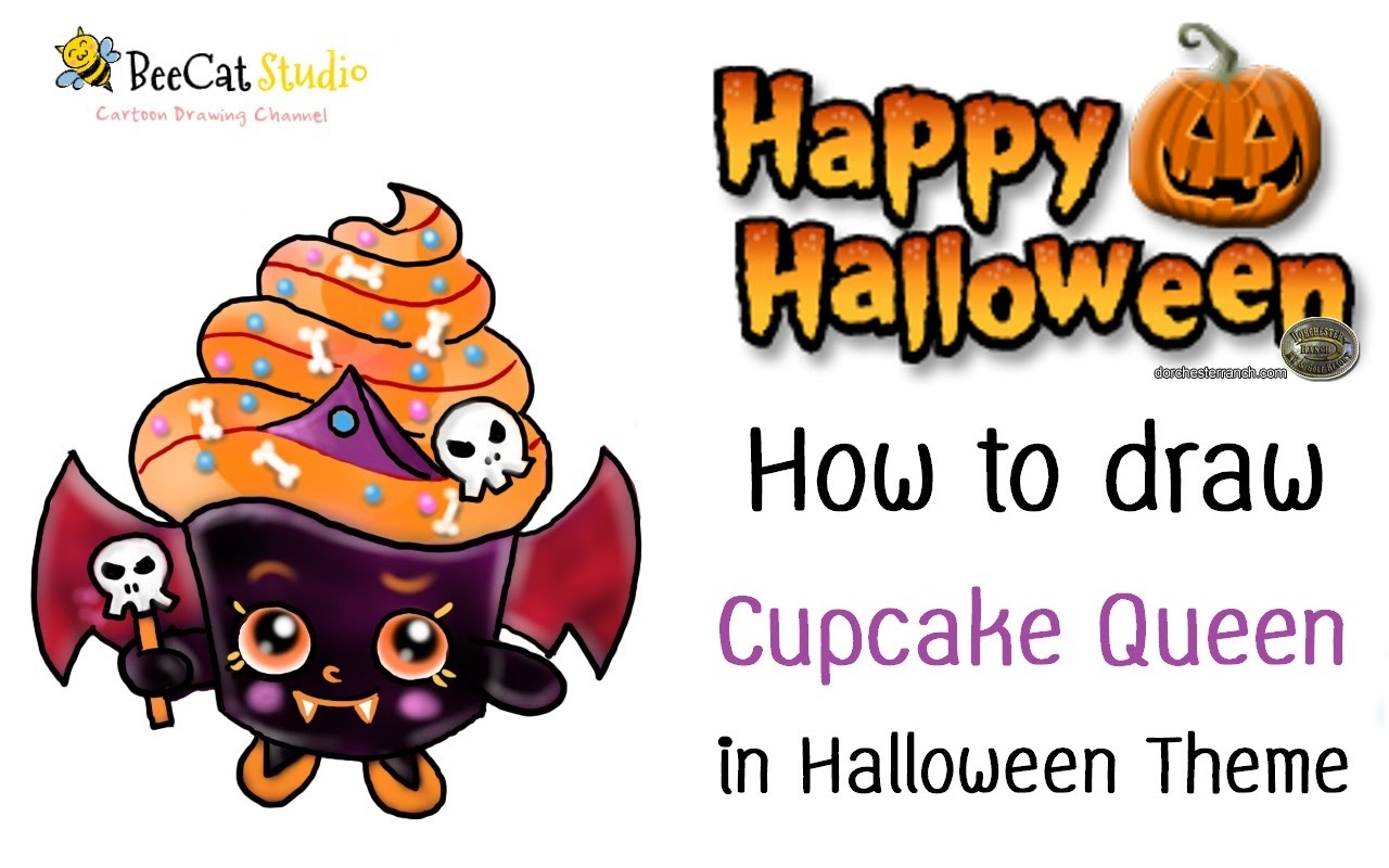 1280x800 How To Draw Cupcake Queen In Halloween Theme Halloween Drawing