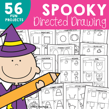 350x350 Spooky Directed Drawing For Halloween By From The Pond Tpt