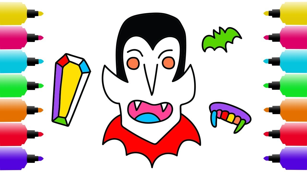 1280x720 Halloween Drawing, Coloring Pages For Kids How To Draw Happy
