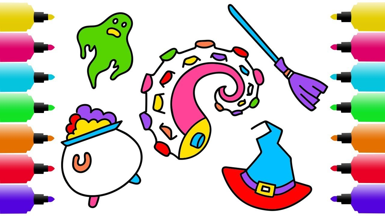 1280x720 Halloween Drawing, Coloring Pages For Kids How To Draw Octopus