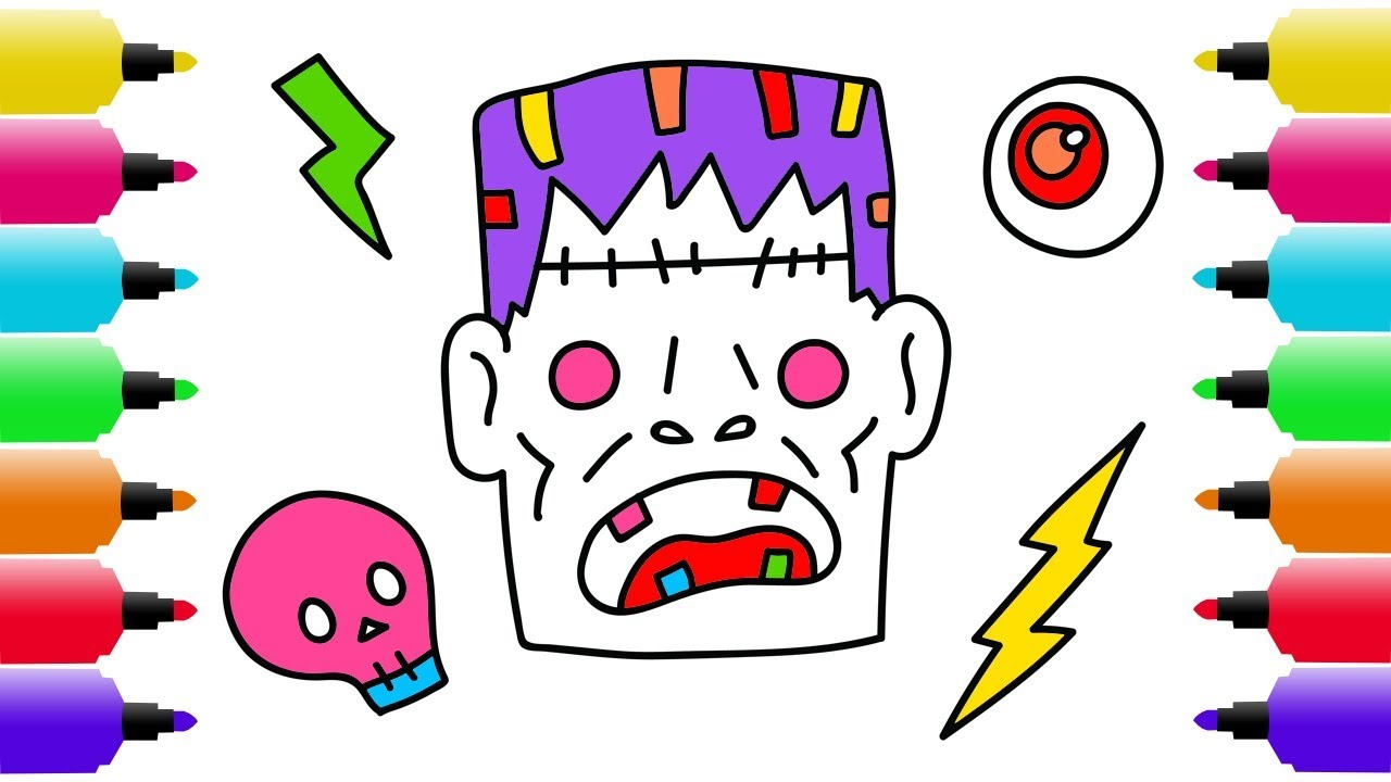 1280x720 Halloween Drawing, Coloring Pages For Kids How To Draw
