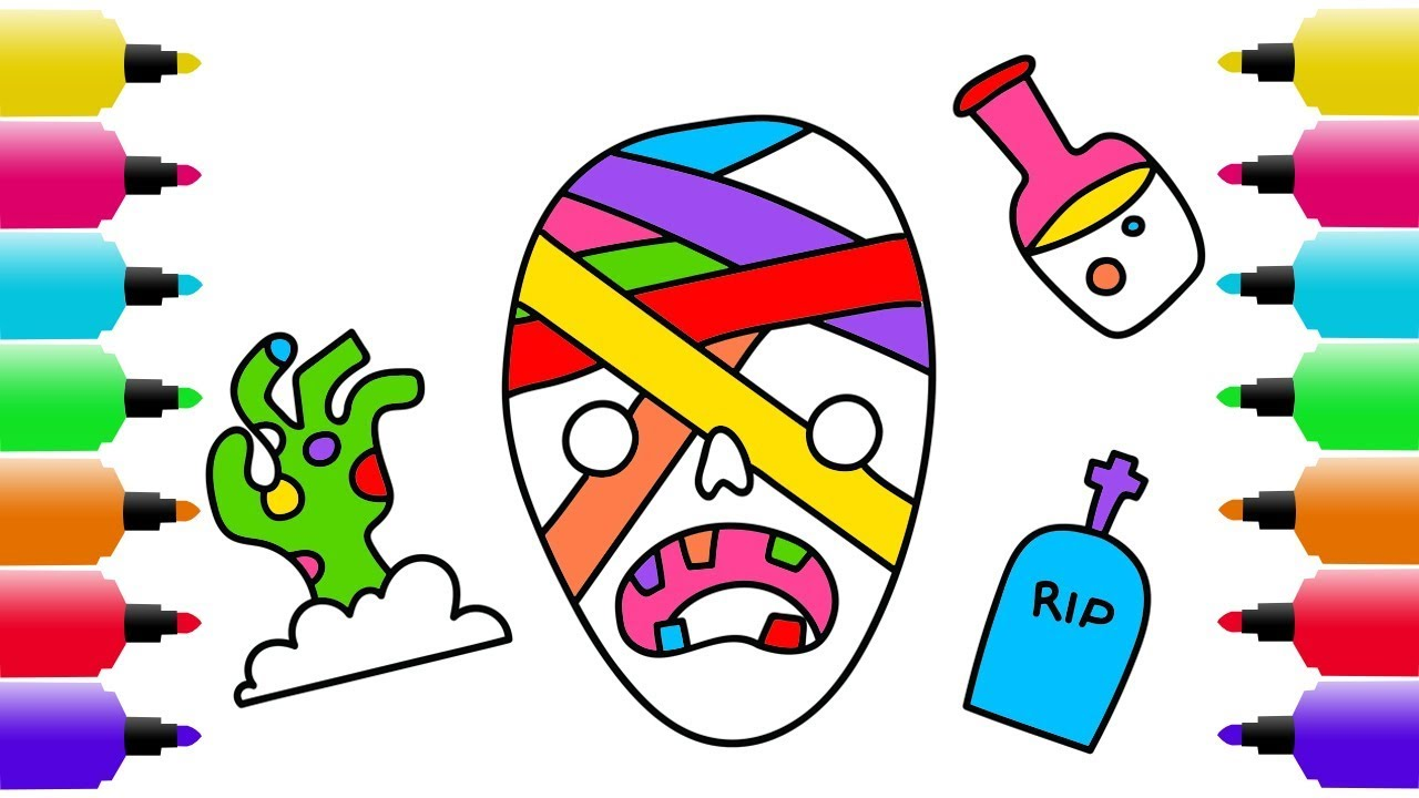 1280x720 Halloween Drawing, Coloring Pages For Kids How To Draw A Scary