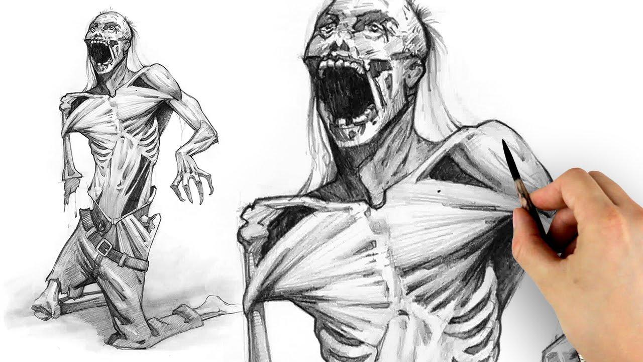 1280x720 Drawing The Walking Dead