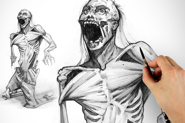 720x480 Drawing The Walking Dead